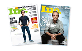 One-year subscription to Inc. magazine (or $10 refund)
