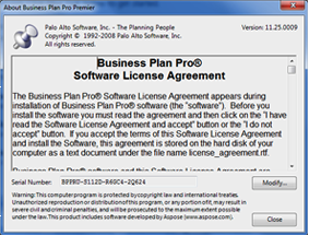 Business plan pro serial